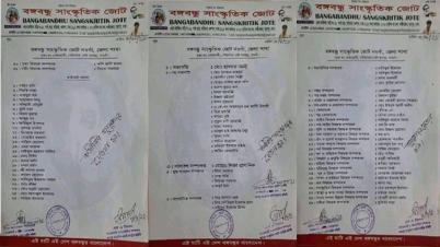 বঙ্গবন্ধু সাংস্কৃতিক জোট নওগাঁ জেলা শাখার কমিটি ঘোষণা