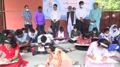বি-বাড়িয়ায় প্রধানমন্ত্রীর জন্মদিনে জাতীয় শিশু-কিশোর চিত্রাঙ্কন প্রতিযোগিতা
