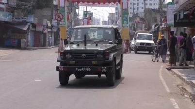 করোনা সতর্কতা : অনেকটাই নিস্তব্ধ ব্রাহ্মণবাড়িয়া জেলা শহর