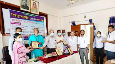 মাধবপুর উপজেলা স্বাস্থ্য কমপ্লেক্সে বিদায় সংবর্ধনা