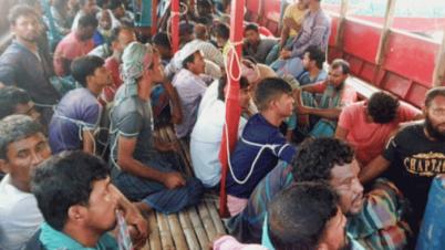 ফরিদপুরে ভ্রাম্যমাণ অভিযানে ৫৩ জেলে আটক