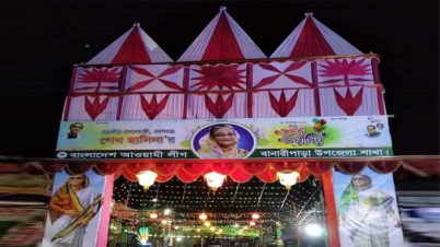 প্রধানমন্ত্রীর জন্মদিন উদযাপনে অপরূপ সাজে সেজেছে বানারীপাড়া