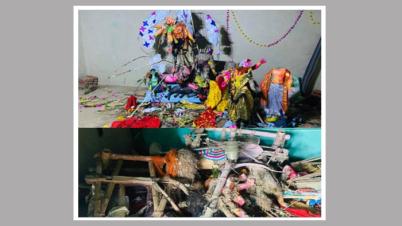 কুলাউড়ায় আরো ৩টি মন্দির ভাংচুরের ঘটনা ঘটেছে