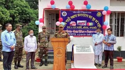 গুইমারায় সেনাবাহিনীর উদ্যোগে কম্বল কারখানার উদ্বোধন