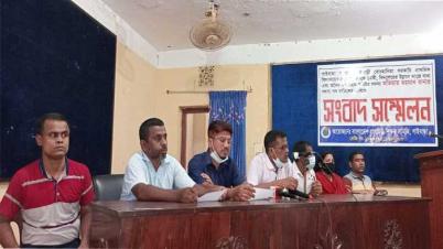 গাইবান্ধায় সরকারি উন্নয়ন কাজে বাধা  শিক্ষকদের সংবাদ সম্মেলন
