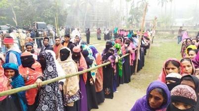 চাঁদপুরের হাইমচর উপজেলা নির্বাচনে ভোটগ্রহণ শুরু