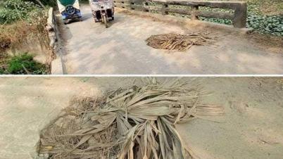 সেনবাগে সেতু নির্মাণের ৩ বছরের মাথায় বিপদজনক গর্ত