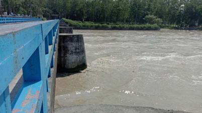 পাহাড়ি ঢলে তিস্তা নদীর পানি বিপৎসীমার উপরে
