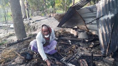 শিবগঞ্জে অগ্নিকান্ডে ৮টি ঘর ভষ্মিভূত, ১৫লক্ষাধিক টাকা ক্ষয়ক্ষতি