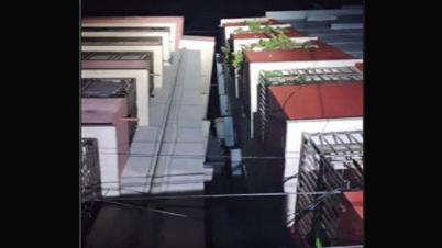 সিলেটে ভূমিকম্পে হেলে পড়েছে দুটি ৬ তলা ভবন